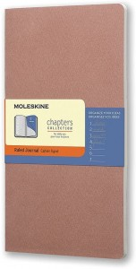 Notes Moleskine Chapters Journal slim L (11,5x21cm) w linie, różowy