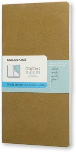 Notes Moleskine Chapters Journal slim M (9,5x18cm) w kropki, oliwkowy