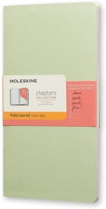 Notes Moleskine Chapters Journal slim M (9,5x18cm) w linie, miętowy