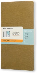 Notes Moleskine Chapters Journal slim M (9,5x18cm) w linie, oliwkowy