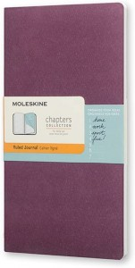 Notes Moleskine Chapters Journal slim M (9,5x18cm) w linie, purpurowy