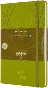 Notes Moleskine edycja limitowana Harry Potter L (13x21 cm) w linie, Book 3, light green