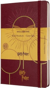 Notes Moleskine edycja limitowana Harry Potter L (13x21 cm) w linie, Book 6, bordeaux red